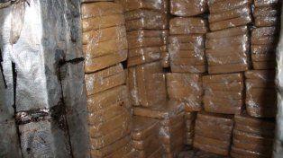 Incautaron 6.000 kilos de marihuana