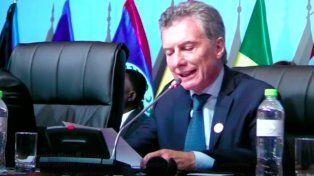 Macri condenó el uso de armas químicas y pidió preservar la paz