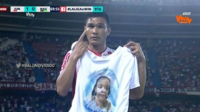 El homenaje de Teo Gutiérrez a su sobrina asesinada por sicarios