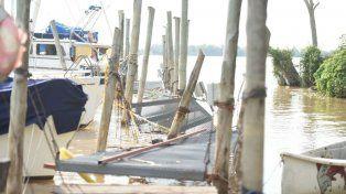 La fuerte tormenta causó importantes daños en los clubes de la ribera norte de Rosario.