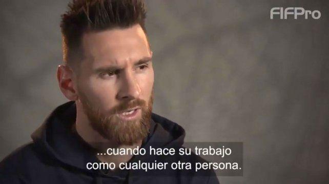 Messi participó en un video sobre el Día del Trabajador.