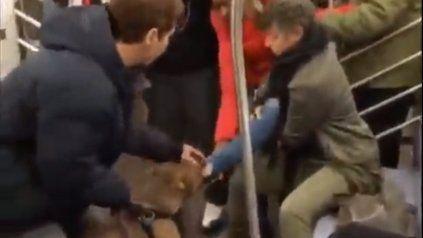 El dramático video del ataque de un pitbull a una mujer en el subte