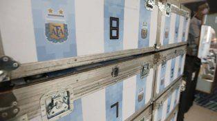 Un contenedor con carne, yerba y parrillas viajaron a Rusia con la Selección