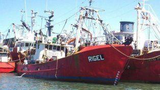 El pesquero que zarpó el martes del puerto de Mar del Plata.