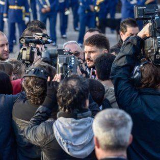 Pullaro, en rueda de prensa, esta mañana en el Monumento.