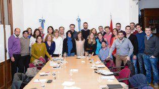 En marcha. La junta ejecutiva provincial del PS se reunió en Rosario.