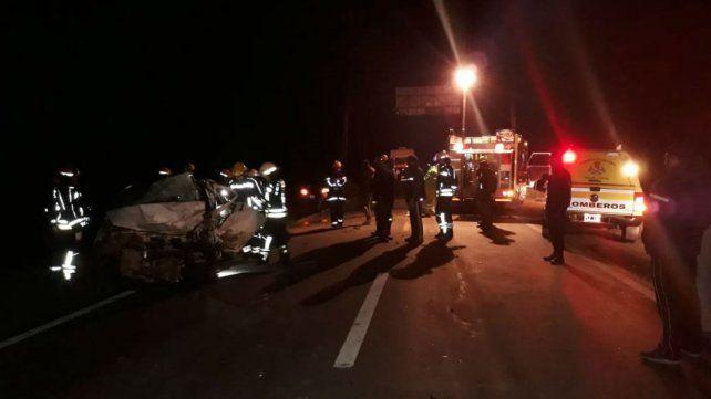 Dos muertos y un herido tras un choque en la ruta 33 cerca de Murphy