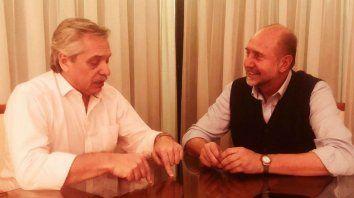 Fernández y Perotti, anoche cenaron y sellaron compromiso para trabajar juntos