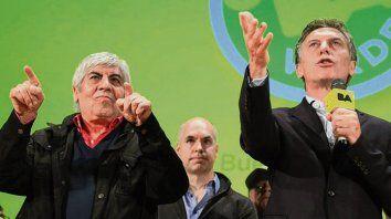 Otros tiempos. Septiembre de 2015, Moyano y Macri en un acto.