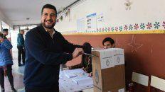 Marcos Cleri votó esta mañana en la escuela 2050 Teresa de Calcuta, de Fraga 1650.