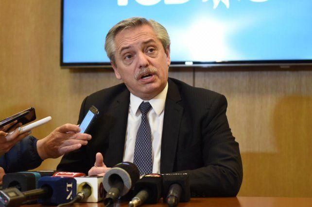 Alberto Fernández afirmó que no le parece razonable reducir el IVA indiscriminadamente
