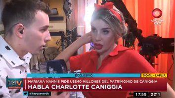 charlotte caniggia hablo y expreso desacuerdo con mariana nannis