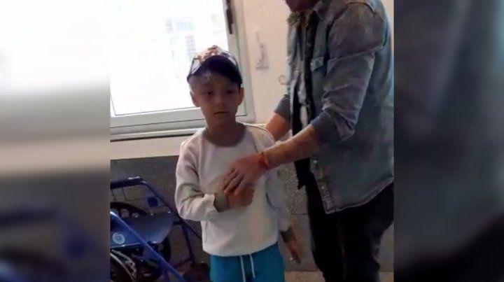 Benjamín, el nene baleado en la cabeza, finalmente volverá a su casa mañana