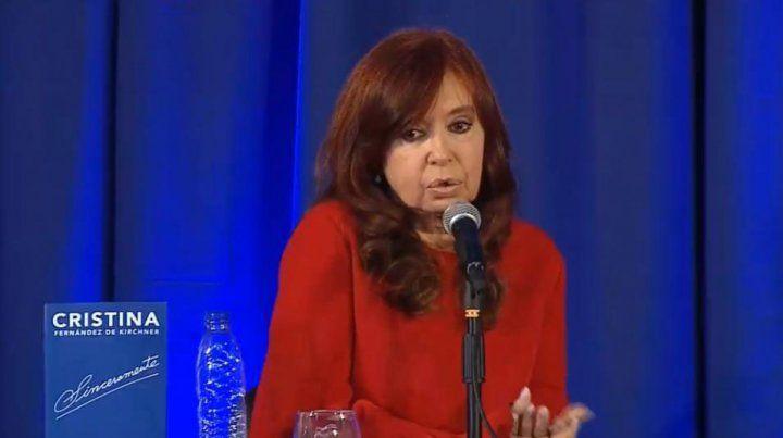 Cristina Fernández en la Facultad de Periodismo de La Plata.