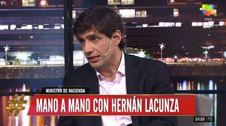 Tinelli disparó contra el gobierno mientras hablaba Lacunza