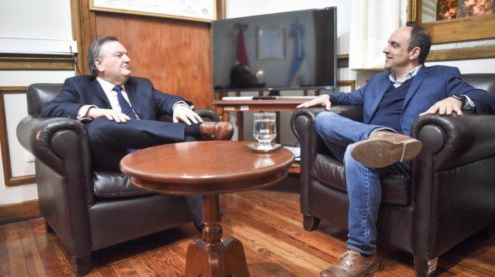 Michlig y Corral hablaron de reorganizar al radicalismo provincial.