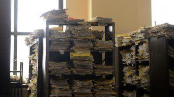 Panorama complicado. Los expedientes se acumulan en los juzgados.