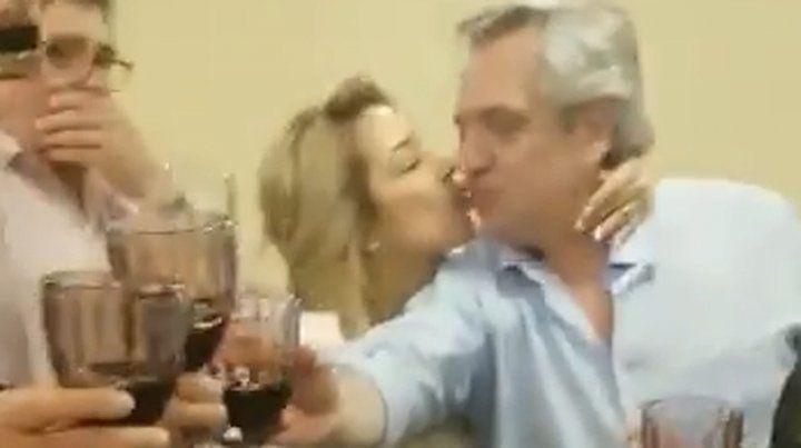 El festejo íntimo de Alberto Fernández