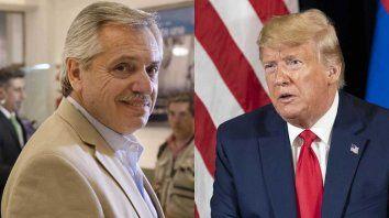 Va a hacer un trabajo fantástico, le dijo Donald Trump al presidente electo Alberto Fernández.
