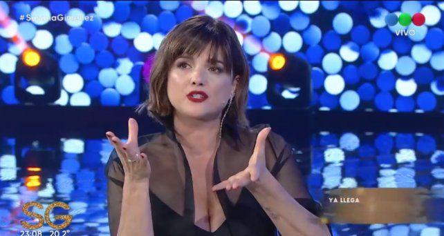 Araceli González estuvo en el living de Susana Giménez.