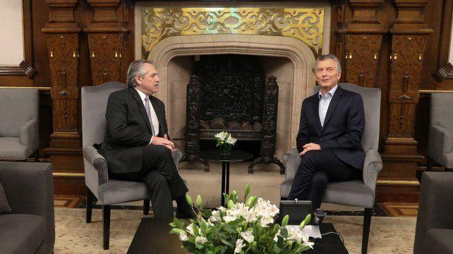 Fernández y Macri se encontraron al día siguiente de las elecciones.