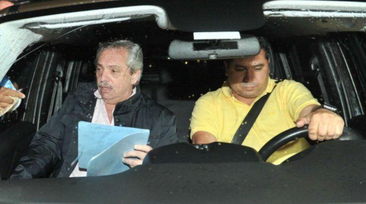 Alberto Fernández tras la reunión con Cristina en Buenos Aires.