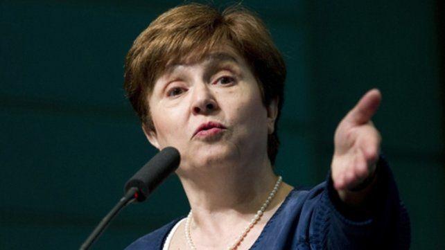 Contactos. Georgieva habló con Fernández. Se mostró entusiasmada con la propuesta de pacto social.