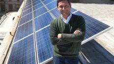 Amigable. Neri, de la EPE, apuesta a las fuentes renovables.