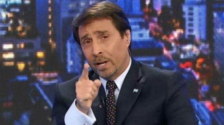 El periodista de A24 dijo que Morales hizo apología del delito.