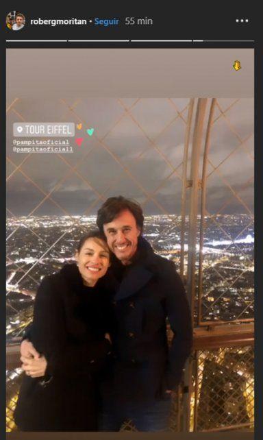 Las primeras imágenes de la luna de miel de Pampita y Roberto García Moritan en París