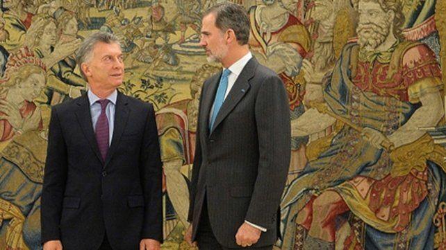 Reales. Macri se reunió con el rey de España