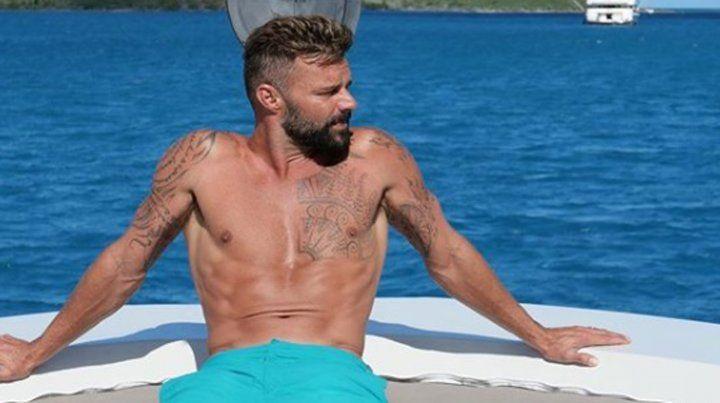 Las fotos de las vacaciones de Ricky Martin que hicieron explotar Instagram