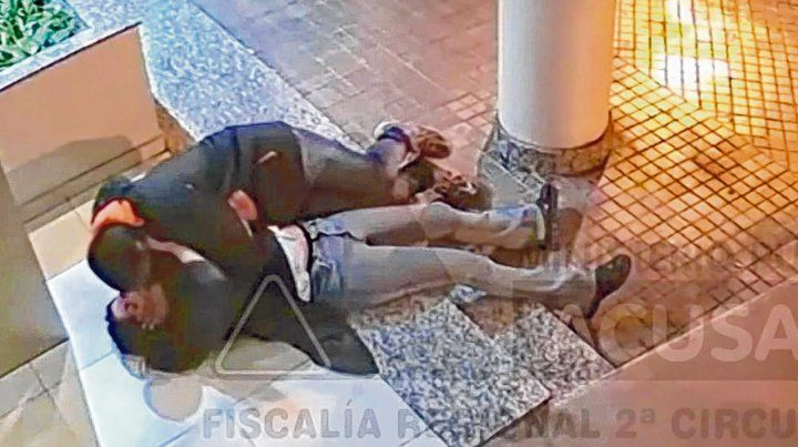 El video. El agresor quedó captado cuando abusó de la víctima