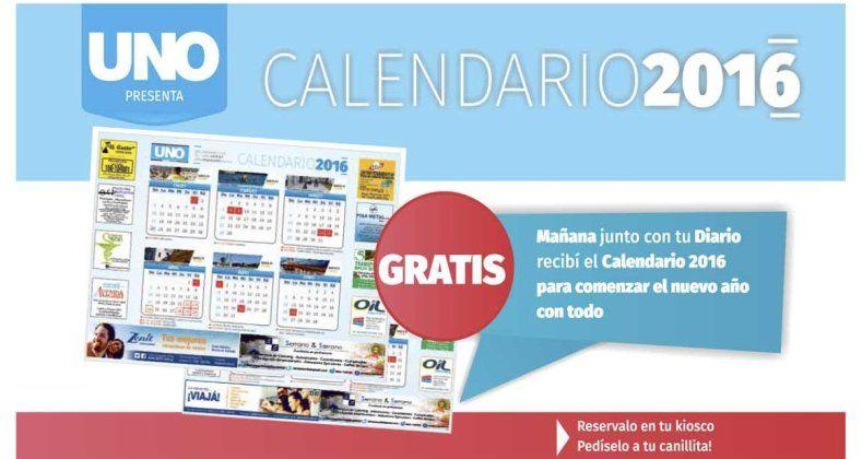 Pedí este jueves el Calendario 2016 junto a Diario UNO