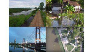 La crecida del río Paraná en diferentes imágenes