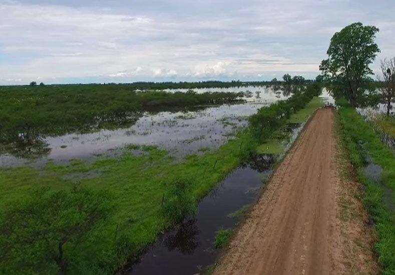 Así se ve desde el cielo la creciente del Paraná