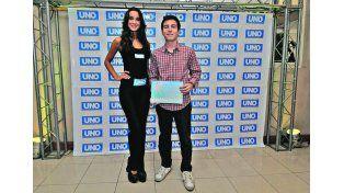Agradecido. Matías asistió al evento organizado por Diario UNO./ José Busiemi.