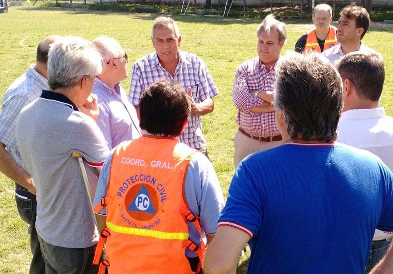 El gobernador estuvo en San Javier y sobrevoló las zonas afectadas