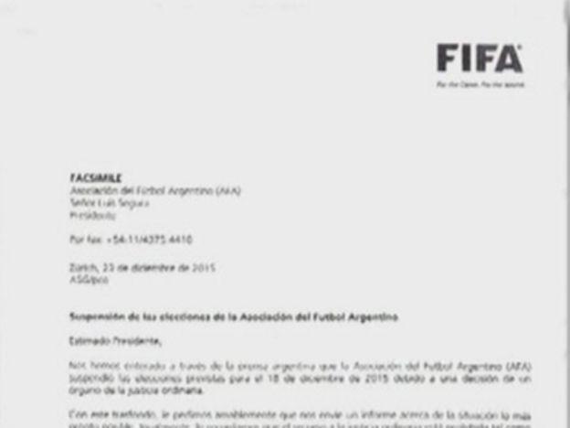 Repercusión internacional: FIFA pide que se aclare la situación en AFA