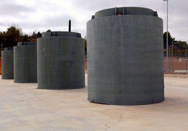 Los contenedores nucleares se prueban en Santa Fe