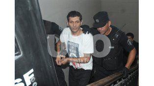 Guardado. Sandoval fue condenado a prisión perpetua el pasado 29 de febrero / Foto: Manuel Testi - Uno Santa Fe