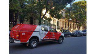 Momentos de tensión por una amenaza de bomba en la Escuela Nacional Simón de Iriondo