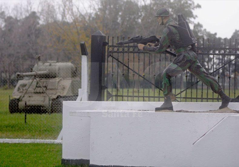 El Batallón de Anfibios de la ciudad de Santo Tomé. // Manuel Testi-UNO Santa Fe-.