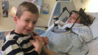 Escuchó a su hijo y despertó del coma