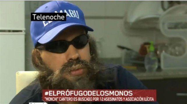 La policía federal detuvo al líder de Los Monos Monchi Cantero en la ciudad de Buenos Aires