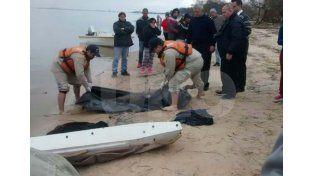 Rescate. Es el que hicieron los agentes de la Prefectura Naval Argentina