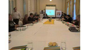 Encuentro. Empresarios turísticos de la provincia se dieron cita en la Bolsa de Comercio de Santa Fe.
