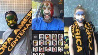 Copa América: ahora podés pintarte la cara con una aplicación que es furor