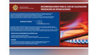 Brindan recomendaciones para evitar intoxicaciones con monóxido de carbono