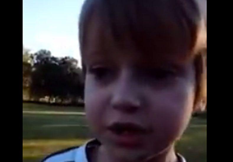 Un nene de 4 años explica cómo será la final del campeonato